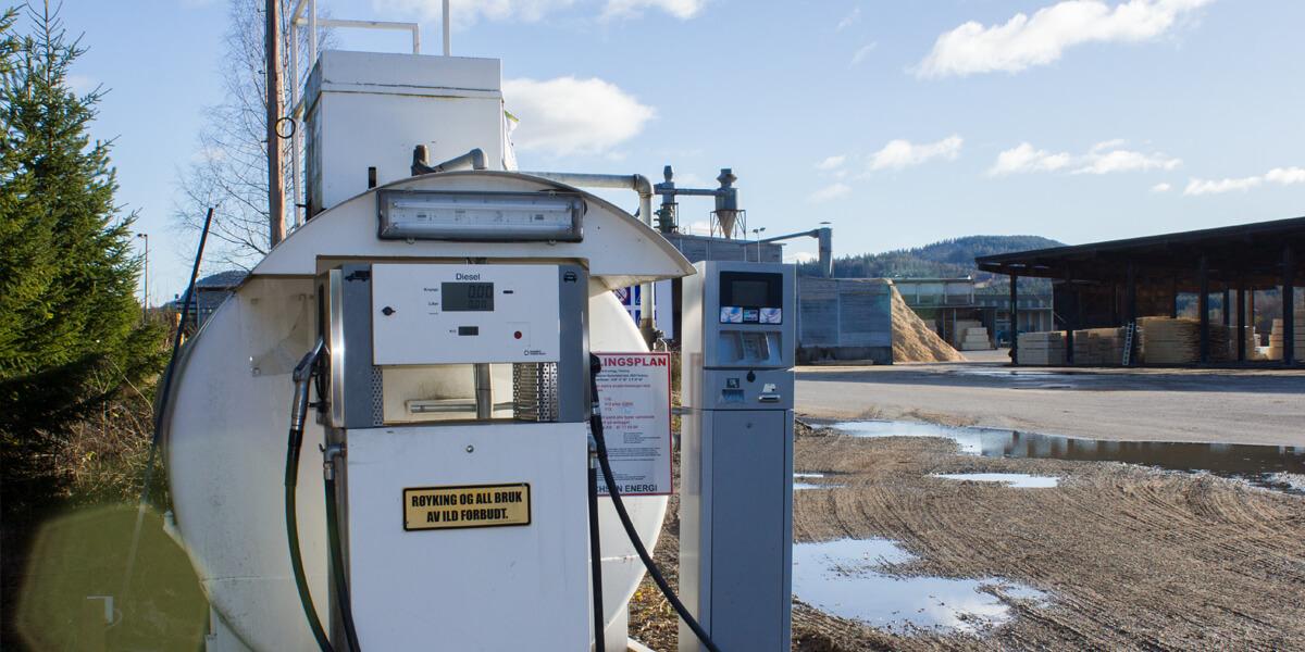 Dieselautomat ved Flesberg