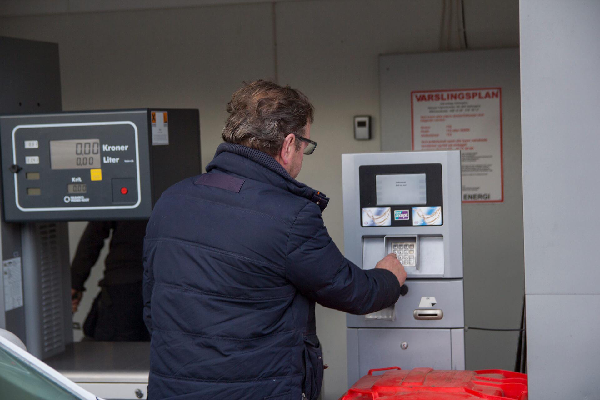 Betaling ved dieselautomat