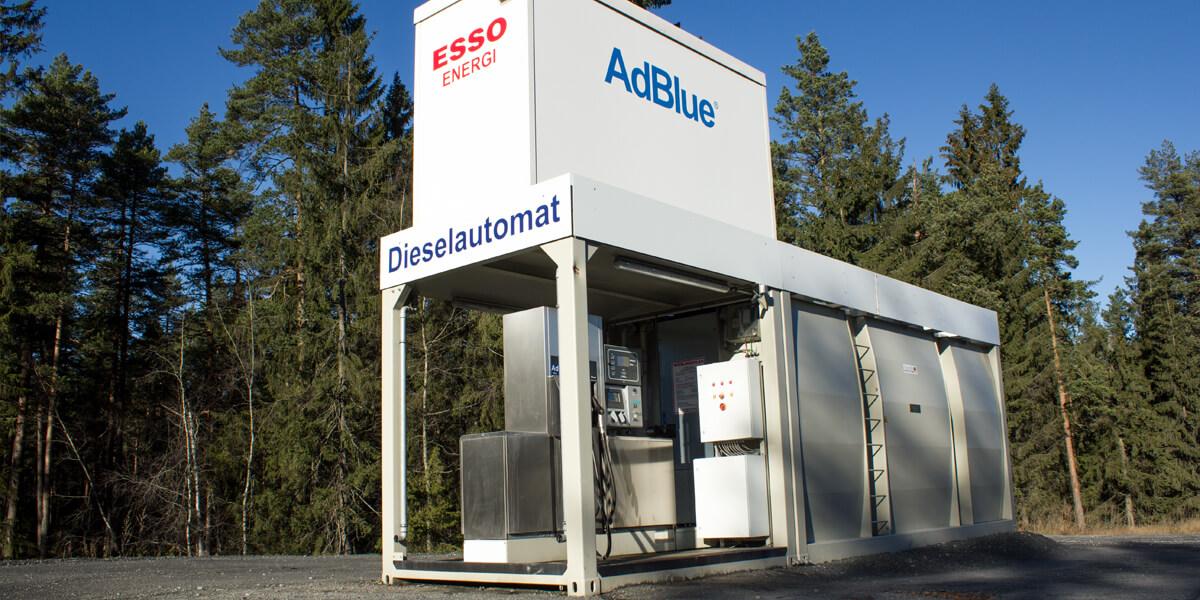Dieselautomat ved Kongsberg